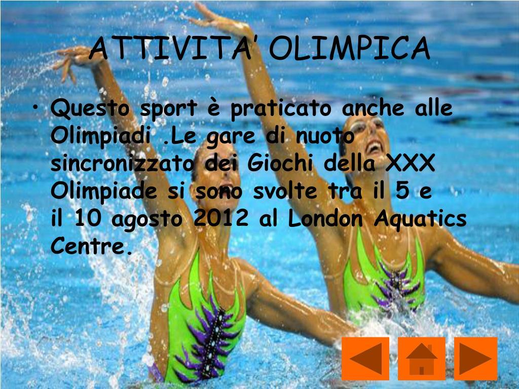 Ppt Nuoto Sincronizzato Powerpoint Presentation Free