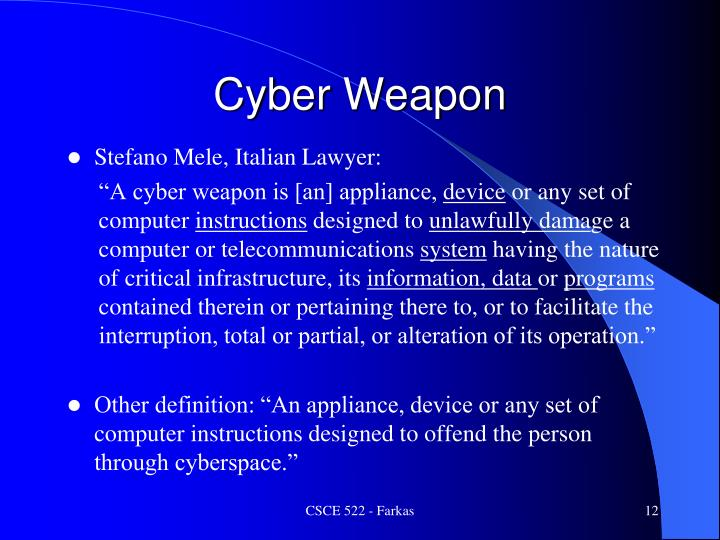 Cyber Weapon