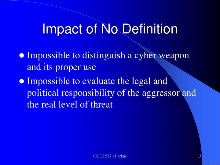 Impact of No Definition