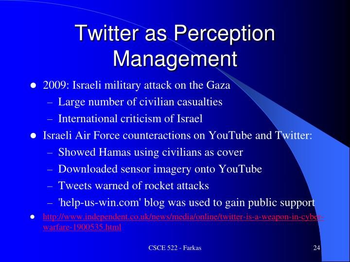 Twitter as Perception Management