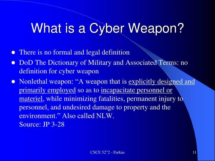 What is a Cyber Weapon?