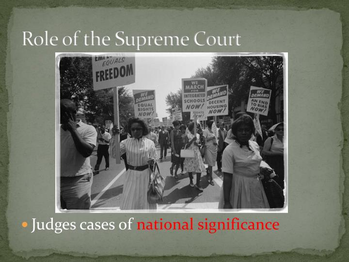 Role of the supreme court1