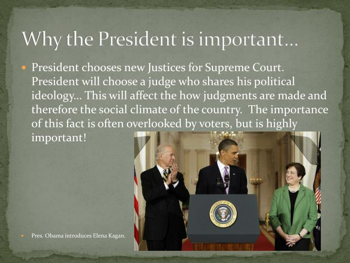 Why the President is important