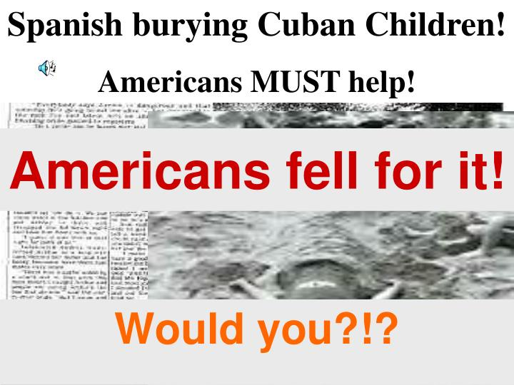 Spanish burying Cuban Children!
