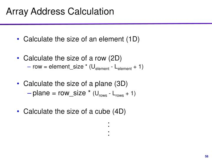 Array Address Calculation