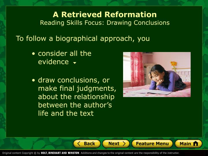 literary criticism of a retrieved reformation Preview 10-retrieved-reformationpptx retrieved-lesson-worksheetdocx check out the reviews i h kimkroll8 (1) $400 tes picks resources to introduce dystopian/post-apocalyptic literature conventions to as students, but also suitable for gcse or ks3 students designed to le archev (36.