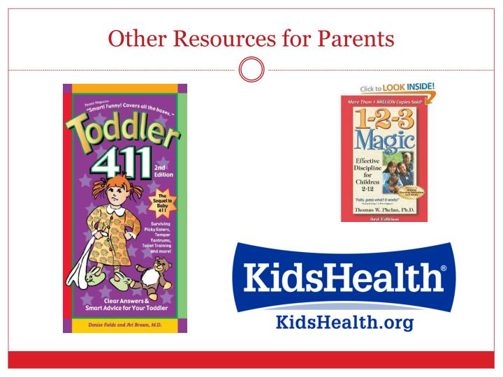 Other Resources for Parents