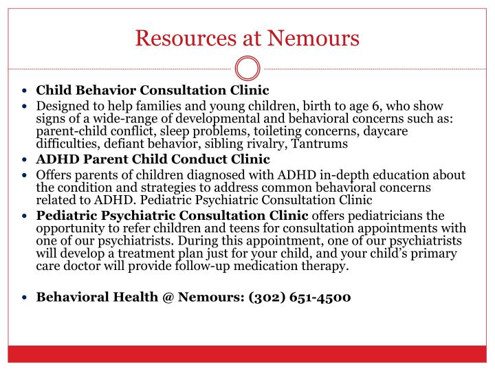 Resources at Nemours