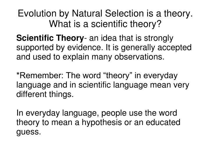 Ppt Darwin And His Theory Of Evolution By Natural Selection