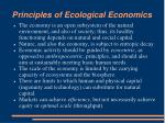 principles of ecological economics