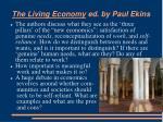 the living economy ed by paul ekins