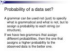 probability of a data set