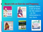 recent info on exercise and pregnancy