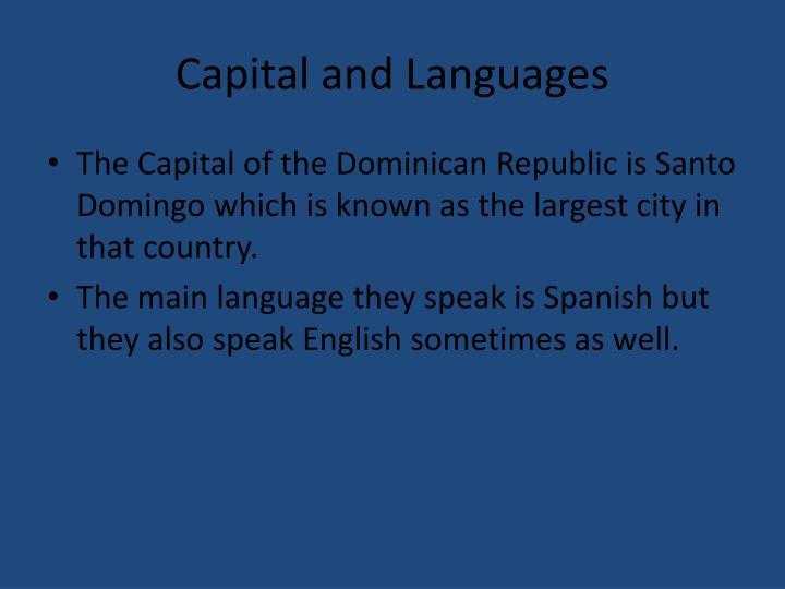 Capital and languages