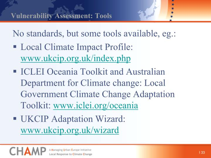 Vulnerability Assessment: Tools