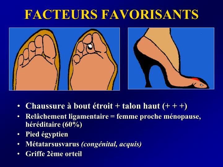 FACTEURS FAVORISANTS