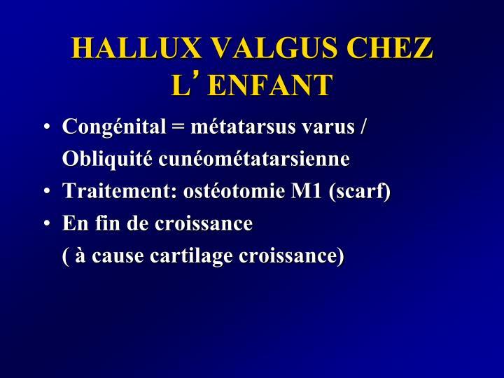 HALLUX VALGUS CHEZ L