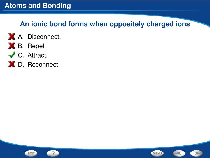 An ionic bond forms when oppositely charged ions