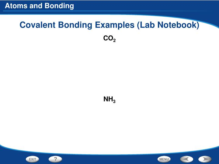 Covalent Bonding Examples (Lab Notebook)