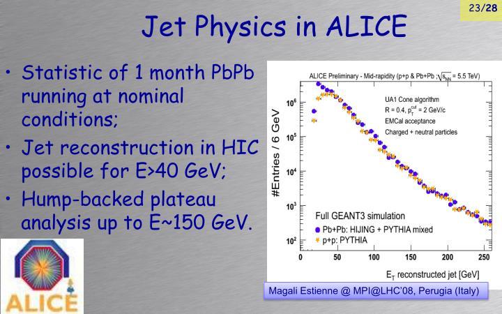 Jet Physics in ALICE