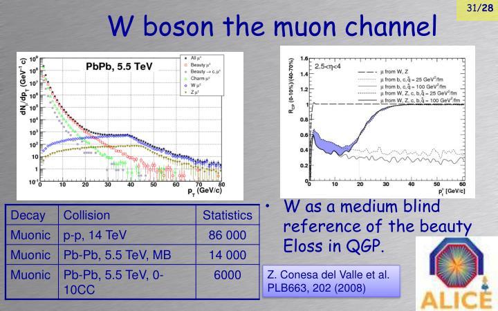W boson the muon channel
