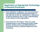 application of appropriate technology in electoral processes3