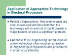 application of appropriate technology in electoral processes4