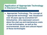 application of appropriate technology in electoral processes5