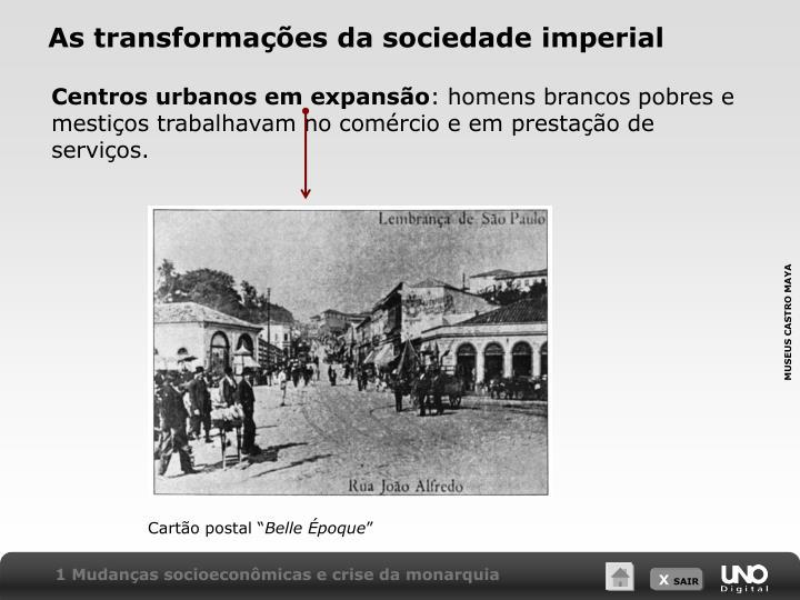 As transformações da sociedade imperial