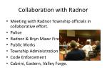 collaboration with radnor