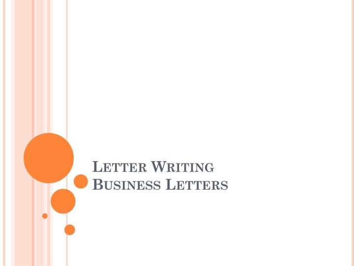 letter writing business letters n.