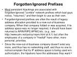 forgotten ignored prefixes