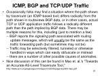 icmp bgp and tcp udp traffic