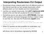 interpreting routeviews cli output