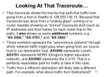 looking at that traceroute