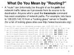 what do you mean by routing