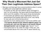 why would a miscreant not just get their own legitimate address space