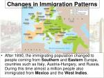 changes in immigration patterns2