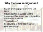 why the new immigration