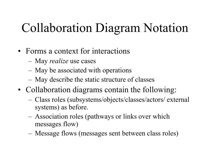 Ppt sequence and collaboration diagrams powerpoint presentation collaboration diagram notation ccuart Images