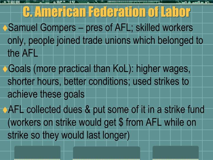 C. American Federation of Labor