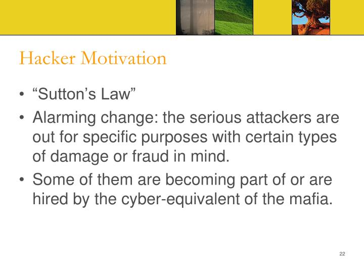 Hacker Motivation