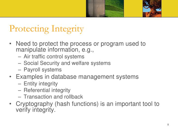 Protecting Integrity
