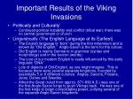 important results of the viking invasions
