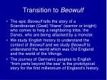 transition to beowulf