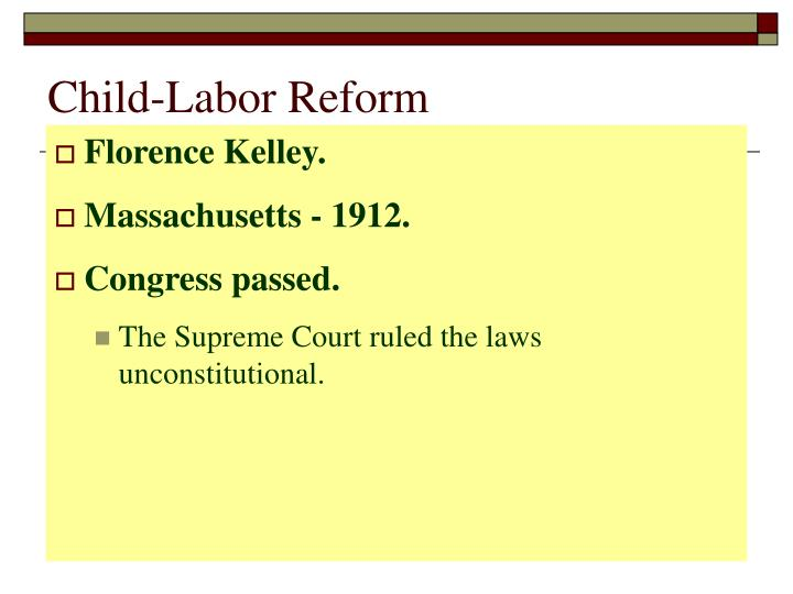 Child-Labor Reform