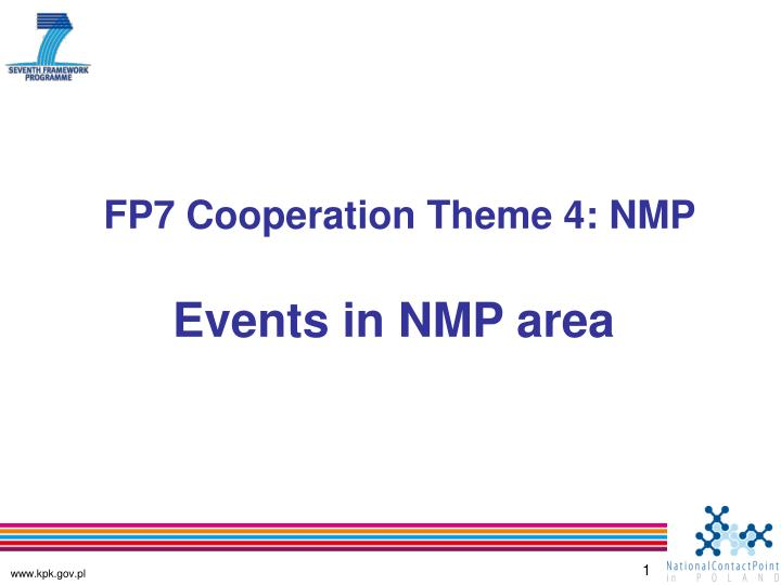 fp7 cooperation theme 4 nmp n.