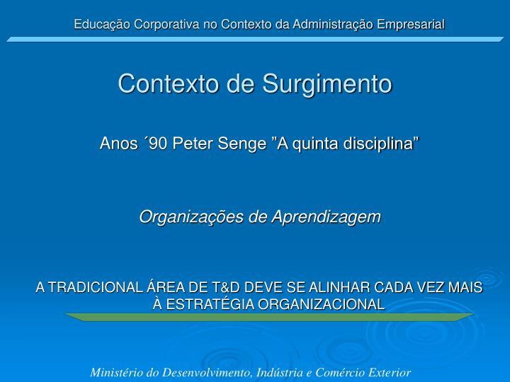 Educação Corporativa no Contexto da Administração Empresarial