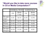 would you like to take more courses in cs or media computation