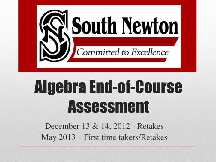 algebra end of course assessment n.